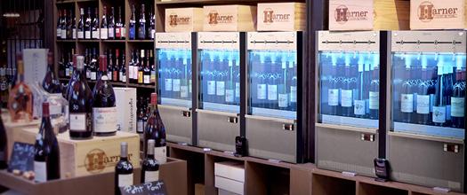 Machine de vin au verre a carte