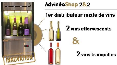 ASHOP2&2 distributeur de champagne au verre