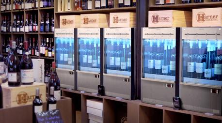 distributeur de vin au verre à carte libre service