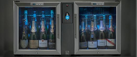 POD BAR CHAMPAGNE pour la conservation du champagne et la mise en température